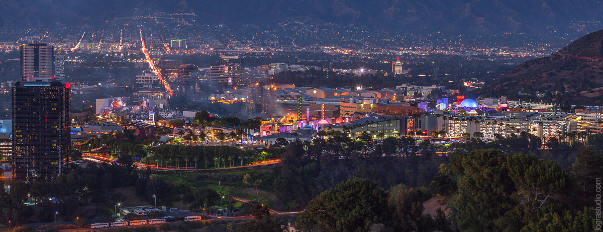 Panoramic View of Studio City, San Fernando Valley, Los Angeles,